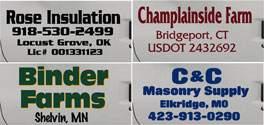 truck door lettering examples