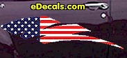 USA Striped Accent Decal ACC904