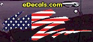 USA Striped Accent Decal ACC905
