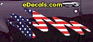 USA Striped Accent Decal ACC906