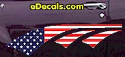 USA Striped Accent Decal ACC909
