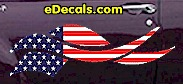 USA Striped Accent Decal ACC910