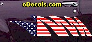 USA Striped Accent Decal ACC913