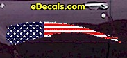 USA Striped Accent Decal ACC914