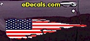 USA Striped Accent Decal ACC916
