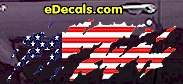 USA Striped Accent Decal ACC919
