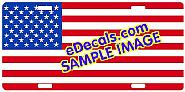 Standard American Flag Aluminum License Plate LIC101