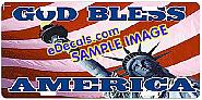 American Flag God Bless America Aluminum License Plate LIC108
