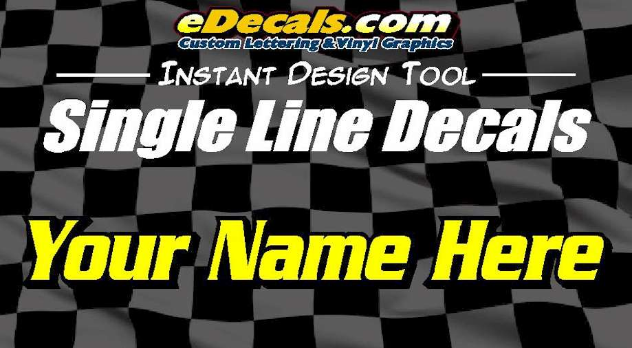 Single Line Custom Lettering Decals