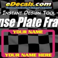 Personalized License Plate Frame Auto Tag Lettering