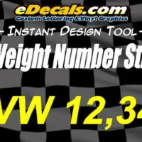 GVW Gross Vehicle Weight Number Decal Stickers