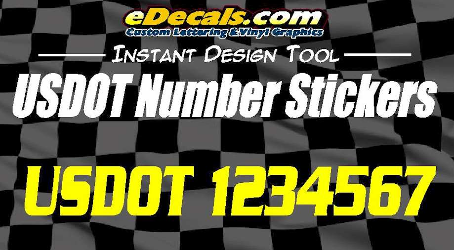 USDOT Required Number Decal Stickers