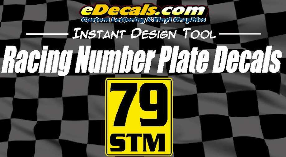 Self Adhesive Competition Racing Number Touring Plate Decals