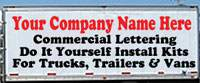 Box Truck Lettering Kits - Click Here To Get Started!