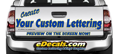 Customize My Truck >> Create Custom Truck Boat Bike Racing Decal Kits