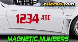 FREE Design Racing Numbers Race Lettering Magnetic Kits