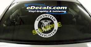 Volunteer Firefighter Cartoon Decal CRT323