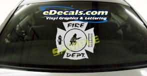 Volunteer Firefighter Cartoon Decal CRT327