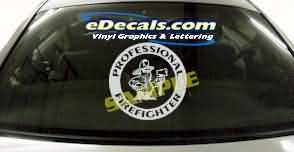 Volunteer Firefighter Cartoon Decal CRT328