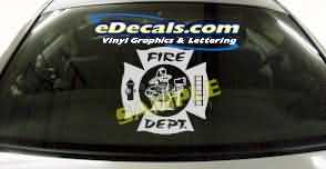 Volunteer Firefighter Cartoon Decal CRT329