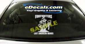 Volunteer Firefighter Cartoon Decal CRT334
