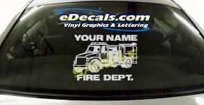 Volunteer Firefighter Cartoon Decal CRT338