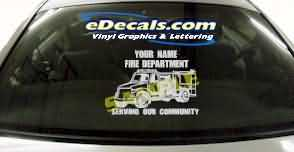 Volunteer Firefighter Cartoon Decal CRT340