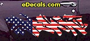 USA Striped Accent Decal ACC901