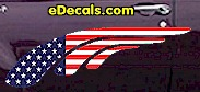 USA Striped Accent Decal ACC902