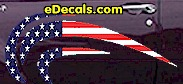 USA Striped Accent Decal ACC903
