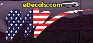 USA Striped Accent Decal ACC907