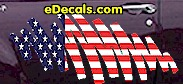 USA Striped Accent Decal ACC908