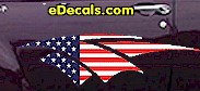 USA Striped Accent Decal ACC912
