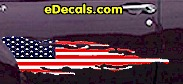 USA Striped Accent Decal ACC915
