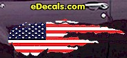 USA Striped Accent Decal ACC917