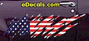 USA Striped Accent Decal ACC918