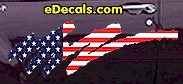 USA Striped Accent Decal ACC920