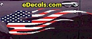 USA Striped Flame Decal FLM901