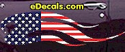 USA Striped Flame Decal FLM902