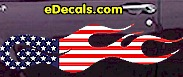 USA Striped Flame Decal FLM903