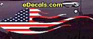 USA Striped Flame Decal FLM904