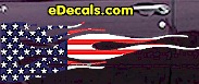 USA Striped Flame Decal FLM905