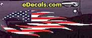 USA Striped Flame Decal FLM906