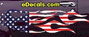 USA Striped Flame Decal FLM907
