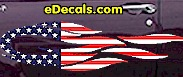 USA Striped Flame Decal FLM908