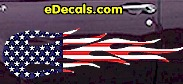 USA Striped Flame Decal FLM913