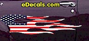 USA Striped Flame Decal FLM915