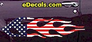 USA Striped Flame Decal FLM916