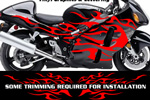 Flame Decal Kit Suzuki Yamaha Kawasaki Metric Bike FLM804