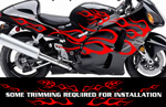 Flame Decal Kit Suzuki Yamaha Kawasaki Metric Bike FLM805